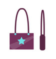 handbag with star sign object vector image vector image