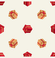 holiday pattern with isometric boxes vector image