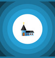 isolated structure flat icon christian vector image