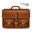 leather bag realistic detailed 3d vector image