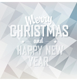 merry christmas card triangles design vector image