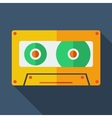 Modern flat design concept icon Tape recorder vector image