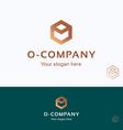 o company logo vector image vector image