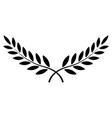 olive branch laurel wreath winner vector image