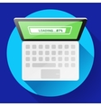 Open Laptop Top View Flat Icon vector image vector image