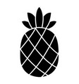 pineapple black silhouette icon vector image vector image