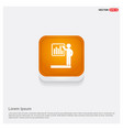 progress chart icon orange abstract web button vector image