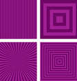 Purple striped pattern background set vector image vector image