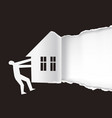 real estate for sale promotion background vector image vector image