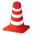 road cone vector image