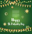 saint patricks day background with golden flags vector image vector image