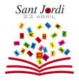 sant jordi catalonia traditional celebration vector image