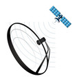 satellite and satellite dish vector image vector image