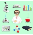 Science Icons Realistic vector image vector image