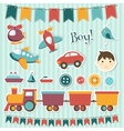 Scrapbook baby boy set vector | Price: 3 Credits (USD $3)