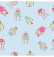 Seamless pattern wallpaper design with robots vector image
