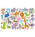 set with animals vector image vector image