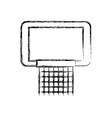 Sketch draw basketball hoop vector image