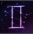 space symbol of gemini of zodiac and horoscope vector image