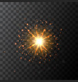 star burst sparkle with glow light effect vector image vector image