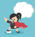 super business woman pointing with confidence vector image vector image