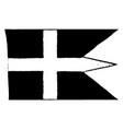 sweden royal navy flag 1910 vintage vector image vector image