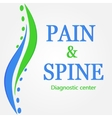 This is Pain and Spine logotype vector image