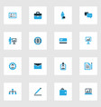 trade colorful icons set collection of whiteboard vector image vector image