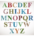 Vintage style alphabet vector image