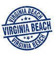 virginia beach blue round grunge stamp vector image vector image