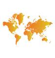 world map - orange gradient vector image