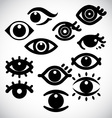 Eye design icons vector image