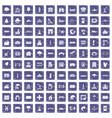 100 landscape element icons set grunge sapphire vector image vector image