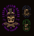 a set different skulls vector image vector image