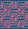 abstract ikat and boho style handcraft fabric vector image vector image