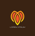 abstract lotus leaf business logo vector image vector image