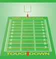 american football field perspective view vector image vector image
