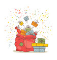 bag with gifts vector image vector image