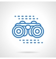 Binoculars icon blue line style vector image vector image