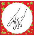 black lines of hand gesture holding vector image vector image