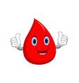 blood drop cartoon icon vector image