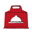 Box with platter symbol food delivery icon image