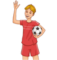 Boy with a football vector image vector image