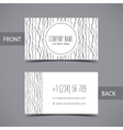 business card front and back with abstract vector image vector image