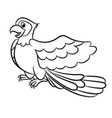 Cartoon cute parrot outlined
