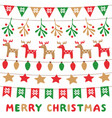christmas lights and decoration party set vector image