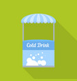 cold drink street shop icon flat style vector image