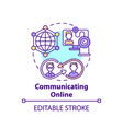 communicating online concept icon vector image