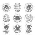 concept of a octopus logo vector image vector image