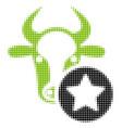 cow favourites halftone icon vector image